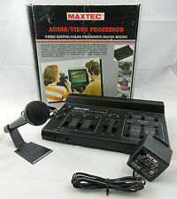 Maxtec Audio/Video Processor Editing & Sound Mixing Unit W/Microphone,Ships Free