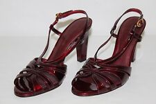 Antonio Melani Womens Size 9 M Ruby Red Strappy Open Toe High Heels Shoes NICE