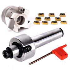 400R 50MM Face Mill Cutter+MT3 FMB22 Arbor Morse Taper +10 Carbide Insert Blade