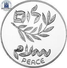 #901 Israel 200 Lirot 1980 PP Silbermünze 32 Jahre Friedensvertrag in Kapsel