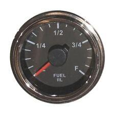 """IIL Fuel Gauge, 2""""/52mm, full ranges, LED, low fuel warning, 001-F-BC-17"""