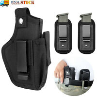 Tactical Concealed Carry OWB IWB Gun Pistol Holster with 2x Magazine Pouch Black