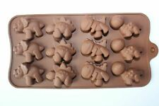 12 Dinosaurs Silicone Mould Chocolate Fondant Jelly Ice Cube Mold