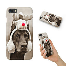 Doberman Perro 4 teléfono duro funda para Apple iPhone