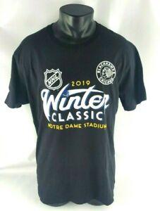Fanatics NHL 2019 Winter Classic Chicago Blackhawks T-Shirt Adult Size Large (L)