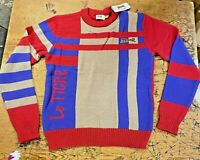 Le Tigre Sweater Men's Mod 80's 60's 100% authentic knit New with Tags ALL SIZES