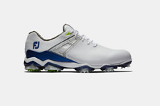NEW Footjoy Men's Tour X Golf Shoes in White / Navy / Lime