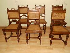 ANTIK! 1 - 5 Tolle Gründerzeit Stühle massiv Eiche um 1890 neues Geflecht TOP