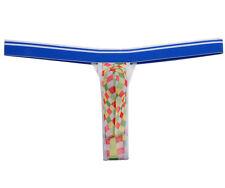 Men's Yellow Plaids See-through Mesh G-string Underwear Pouch Bikini Thong XL