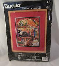Bucilla Counted Cross Stitch Kit Curiosity Cat NIP