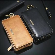 Multifunktion Wallet Leder Schutz Hülle Handy Case Cover Tasche Bumper Etui DECC