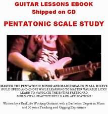 PDF E Book Lead Guitar Licks Lesson Pentatonic Scales Rock Blues Theory Tab