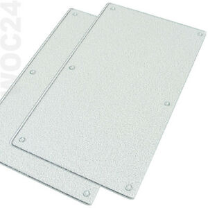 2x Herdabdeckung Herdabdeckplatten Ceranfeld Schneidebrett Glas klar geriffelt