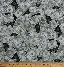 Cotton Money Dollars Dollar Bills Coins Cash Cotton Fabric Print by Yard D769.39