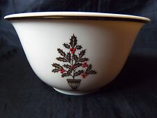 "Lenox China ETERNAL Christmas 5-3/8"" All Purpose Cereal Bowl is 3"" Deep LOOK!"