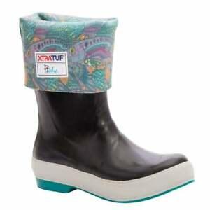 Xtratuf Women's 15 Inch Legacy Boots Black/Groovy Grayling