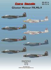 NEW! Gloster Meteor FR Mk 9 (1/72 Decals, Euro Decals 72116)