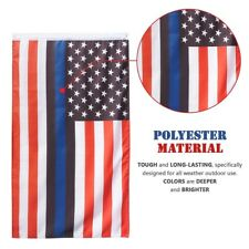 3x5 Blue Lives Matter USA RWB Thin Black Blue Line American Police Flag Grommets