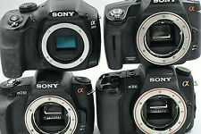 "QUAN. 4 SONY CAMERA BODY. A230, A300, A390, A3000. ""FOR PARTS OR NOT WORKING""."