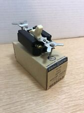 NOS GE IVORY Single Gang 3 Way Silent Mercury Toggle Switch GE5523-2 - New Mint!