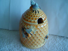 Vintage Handmade Honey Bee Comb Jar Made In Italy
