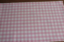 Laura Ashley Pink & White Gingham Check Table Runner  Fully Lined. New!