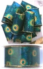 """New-Wire-Edged Ribbon 50 yd/ 45.7 m, 1.5"""" or 2.5"""" Wide, 100% Polyester, No Seams"""