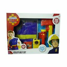 Fireman Sam Utility Belt Set Déguisement Inc Toy Walkie Talkie & torche nouveau