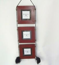 fa1ebb6206df New Bombay Company 3 x 3 Cherry Wood Triple Hanging Frame Made in India