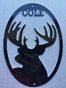 "Custom Deer Metal Sign Art 10"" CHOOSE YOUR COLOR Multi Use Crafts, Christmas"