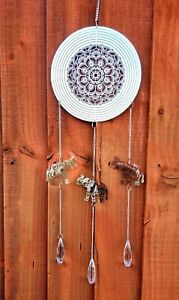 Wind Chime Spinner Dream Catcher Elephant Mirror Mandala Metal Indian Summer Gem