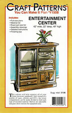 Craft Patterns Y1508 Woodworking Pattern Entertainment Center Unused