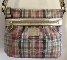 Coach Poppy A1380-F22146 Daisy Madras Plaid Crossbody Handbag