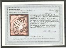 Deutsches Reich Mi-Nr.: 21 b sauber gestempelter Wert Befund Krug.BPP