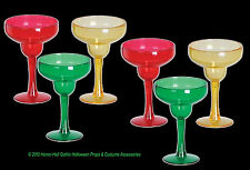 Mini Luau Tiki Bar MARGARITA SHOT GLASS SHOOTERS Beach Pool Party-6pcs Drink SET