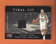 2001-02 FLEER GENUINE FINAL CUT JASON KIDD GAME-WORN JERSEY #11 NEW JERSEY NETS