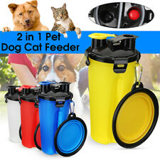 2 in 1  Dog Cat Feeder Outdoor Portable Food Water Bottle + Foldable