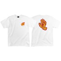 Santa Cruz Flame Hand T-Shirt - Size: LARGE White