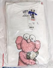 KAWS X UNIQLO PINK BFF TEE WHITE SIZE LARGE SUMMER 2019 (SOLD OUT in UNIQLO)