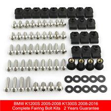 Complete Fairing Bolts Kit Bodywork Screws For K1200S 2005-2008 K1300S 2008-2016