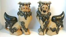 New Listing Vintage Asian Foo Dog Guardian Lion Male/Female Statues 10""