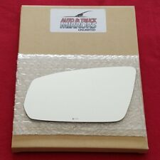Mirror Glass + Adhesive For 2010 Ford Mustang Driver Side Replacement-Power