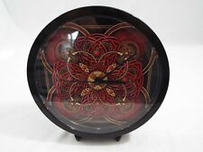 """Cafe Press Decorative Wall Clock Red and Black Steam Punk Design 9"""" Across"""