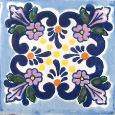 C#008) MEXICAN TILES CERAMIC HAND MADE SPANISH INFLUENCE TALAVERA MOSAIC ART