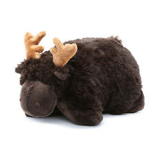BROWN CHOCOLATE MOOSE HORNS PILLOW PETS PEE-WEES FIGURE PLUSH STUFFED ANIMAL TOY