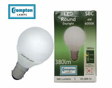 10 X Crompton DAYLIGHT Round LED Opal Frosted 4w B15d SBC Day  Light Bulb 6000k