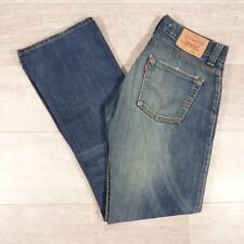 """Blue Stonewashed LEVI 512 Bootcut 31""""W 34""""L Vintage Levis Denim 512s Jeans E3125"""