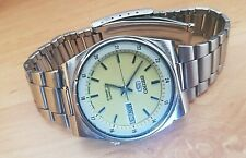 vintage seiko 5 1980's automatic gents watch, day & date, used. W-6