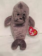 TY Beanie Baby - SLIPPERY the Seal - Pristine with Mint Tags - RETIRED