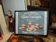 Shabby French wall decor desserts sign block chalkboard look Paris vintage